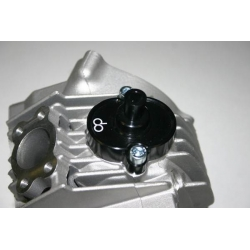 Air breather cap for YX and KLX engines in black