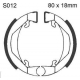 Brake shoes for cyclo with Leleu spoked rims 280210 PR.1002