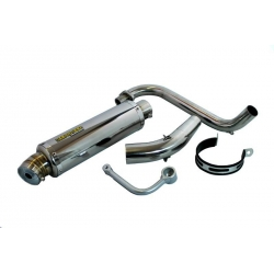 Exhaust Kepspeed Down Swept Inox