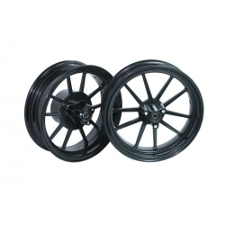 Pair of rims black Kepspeed 12 inch 2.75 + 3.50 for Dax