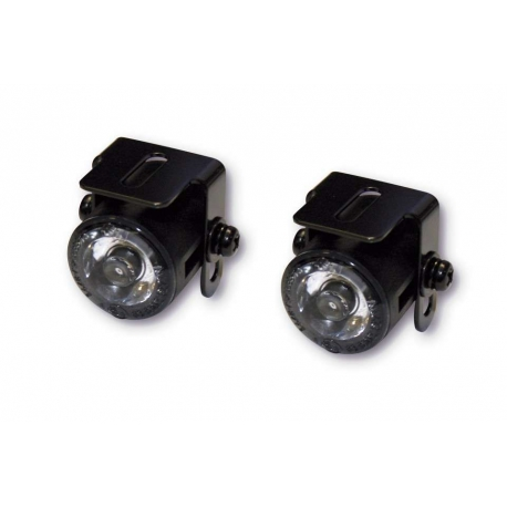Paire de mini spots leds avec support