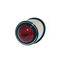Taillight old school chrome plated leds red 12v