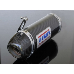 Silencer oval carbon Tyga for Honda MSX 125