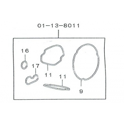 Dichting - Pakkingset O'ring Takegawa Superhead 4V+R 01-13-8011