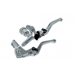 Brake master cylinder with clutch lever CNC Silver