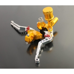 Brake master cylinder with clutch lever CNC Silver and Gold