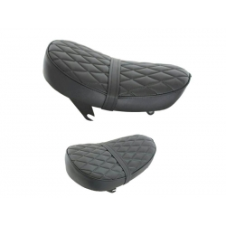 Selle Monkey Kepspeed Low diamond noire piping noir