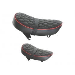 Selle Monkey Kepspeed Low diamond noire piping rouge