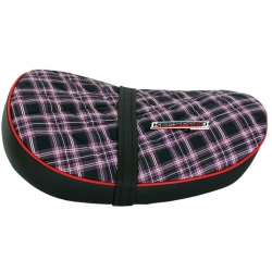 Selle low diamond purple tartan Monkey