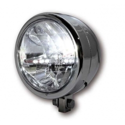 HIGHSIDER 130 mm LED main headlight MIAMI chromed metal housing