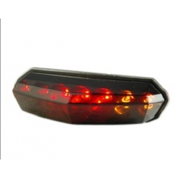 Rear / tail light Derbi Senda R, SM, PRO, DRD - CPI SM, Hussard, Oliver, Pop Corn - Rieju RS2 leds, smoke