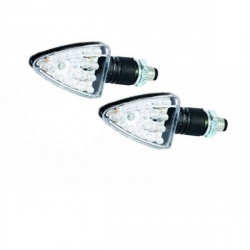 Clignotants triangle 18 leds carbone look par paire