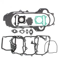 "Complete gasket set for GY6 10 and 12"" Peugeot V-Clic, Kymco Agility S8, TNT Roma, Beeline, Baotian"