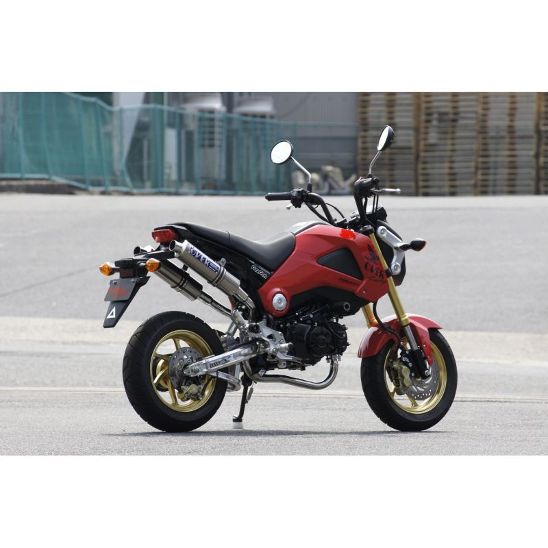 exhaust twin carbon over racing honda msx grom 125. Black Bedroom Furniture Sets. Home Design Ideas