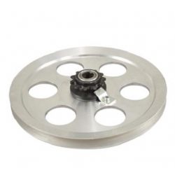 Alloy pulley Peugeot 103 SP / MVL with 11 teeth sprocket