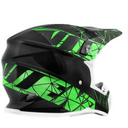 Cross helmet NoEnd Origami green/black