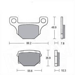 brake pads set for Keeway and Rieju 50cc