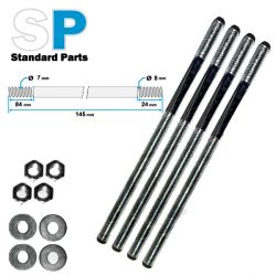 cylinder stud repair set M7 - M8 - 145 mm