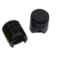 "Inner tube caps set ""pistons"" black"