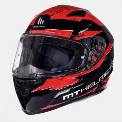 Helmet MT Mugello Maker Black & red