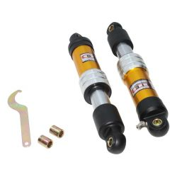 rear shocks no spring 330mm in gold