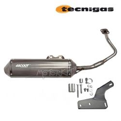 Stainless exhaust Kymco Agility super 8 Vitality - Peugeot V Clic - Baotian - Beeline - Jonway GY6 50cc