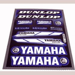 Stickers set A4 Yamaha - Dunlop blauw