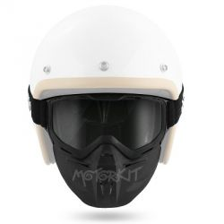 Goggle cross + face protection Brako Noend (with smoke screen)