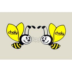 Set frame stickers voor Honda Chaly. Repro