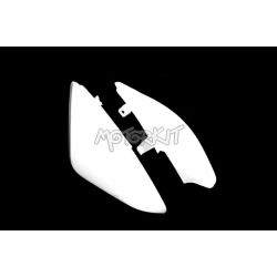 Rear side cover - fairing set for pitbike - dirtbike white plastic