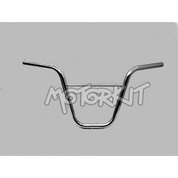 Chrome Custom moped Handlebar with Reinforcement Bar.