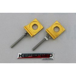 Chain adjusters for swingarm Kepspeed Cub gold