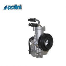 Carburetor Polini CP19 choke with cable - angled inlets and air filter adapter 201.1902