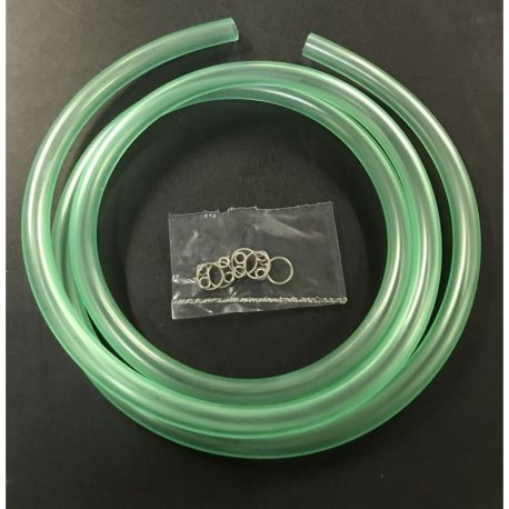 Fuel hose PVC clear green or red Ø8mm x 1m Kitaco