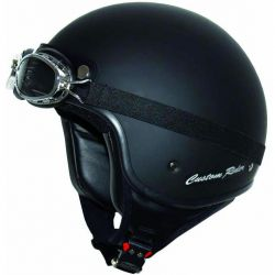 Helmet Custom Rider black mat with glasses