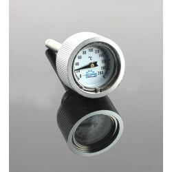 Oil temperatur meter gauge on clutchcase for 50 - 70 cc type Dax and Skyteam Lifan engines