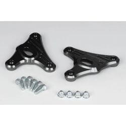 Support de phare et clignotants CNC noir Takegawa Honda Monkey 125 cc (JB02 - 1000001~)