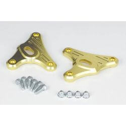Support de phare et clignotants CNC doré Takegawa Honda Monkey 125 cc (JB02 - 1000001~)