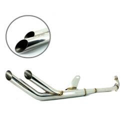 Kepspeed Double Down-UP Stainless Exhaust for Honda Cub C50 and Replica