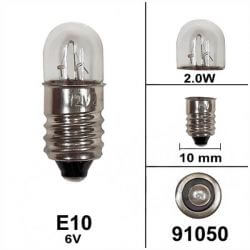 Bulb to screw 6V E10 2.0W