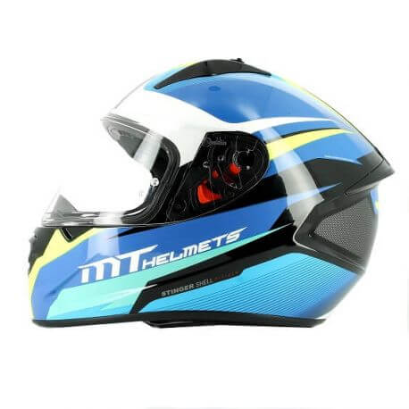 MT Stinger divided blue Full face helmet