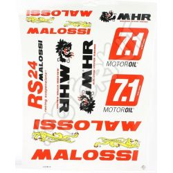 stickers set Malossi 10pc