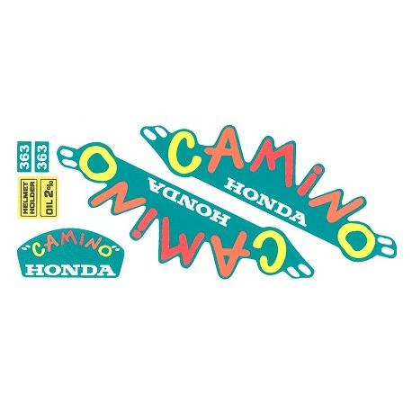 """Set stickers Honda Camino - Hobitt """"carnival"""" on a green background. Reproduction"""