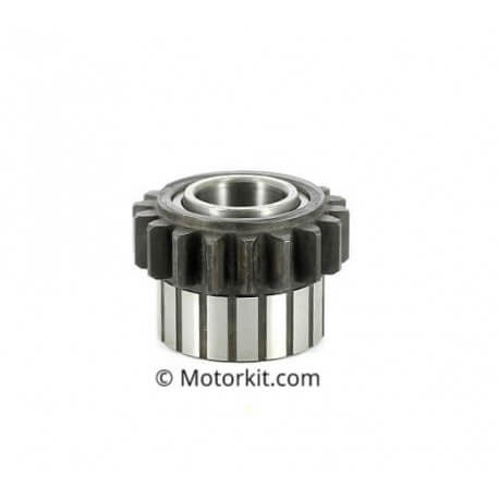 Derbi primary transmission gear, in clutch housing on needle bearing