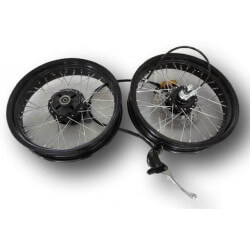 "17 "" black rims - wheels with front disc brake for Honda Cub"