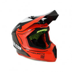 Cross helmet Falcon red black and white