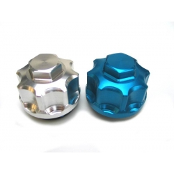 valvecap B type colored blue chrome