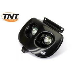 TNT Twin koplamp voor Booster Spirit in het zwart of carbon