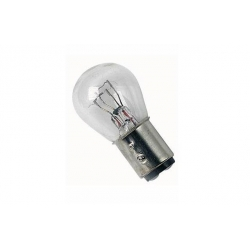 Taillight bulb 12V21/5W , BAY15D , transparent or red glasTaillight / rear bulb 6V or 12V 21/5W , BAY15D , transparent or red