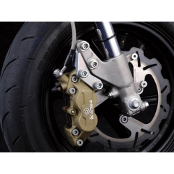 Brembo 4p caliper bracket for Honda RS125 fork